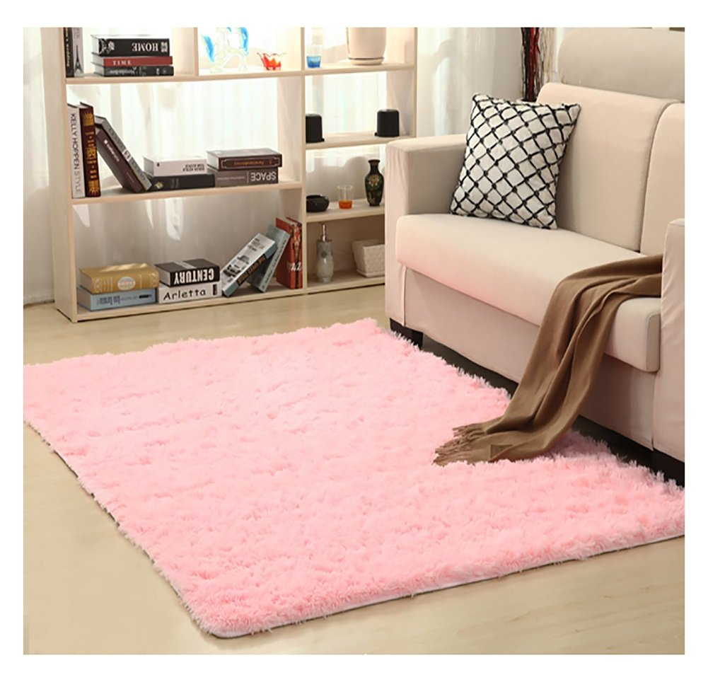 Ultra Soft Bedroom Carpet,Decorative Sitting Room Shaggy Area Rug, Fluffy Kids Playing Pad with Anti-Slip Bottom,Water Absorbent & Quick Dry Bath Rug (Burgundy,31 x 47) 31 x 47) KAMA BRIDAL