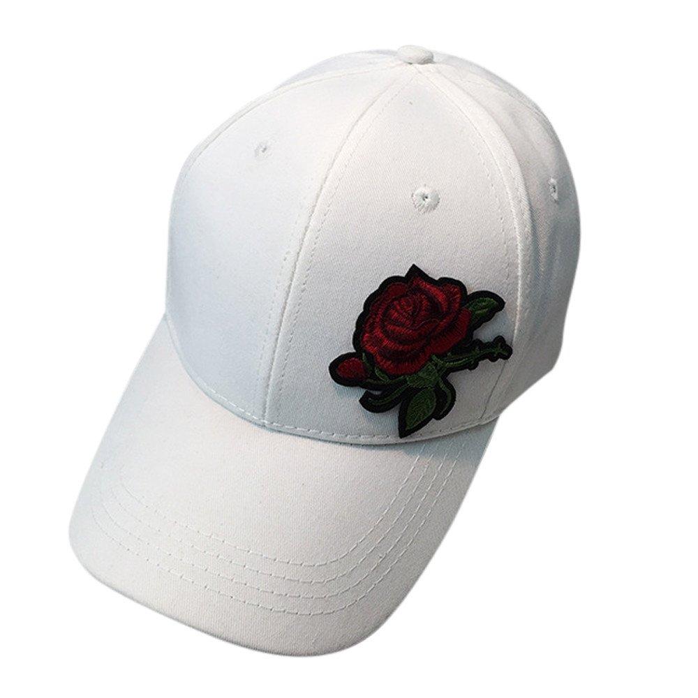 Halfbye - Gorra de béisbol de algodón con Bordado de Rosas para ...