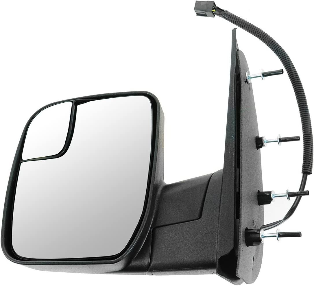 Mirror Manual Integrated Spotter Textured Black Pair Set for Ford E150 E250 E350