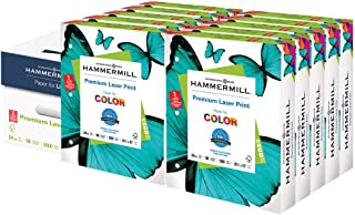 product image for Hammermill Printer Paper, Premium Laser Print 24 lb, 3 Hole - 10 Ream (5,000 Sheets) - 98 Bright, Made in the USA