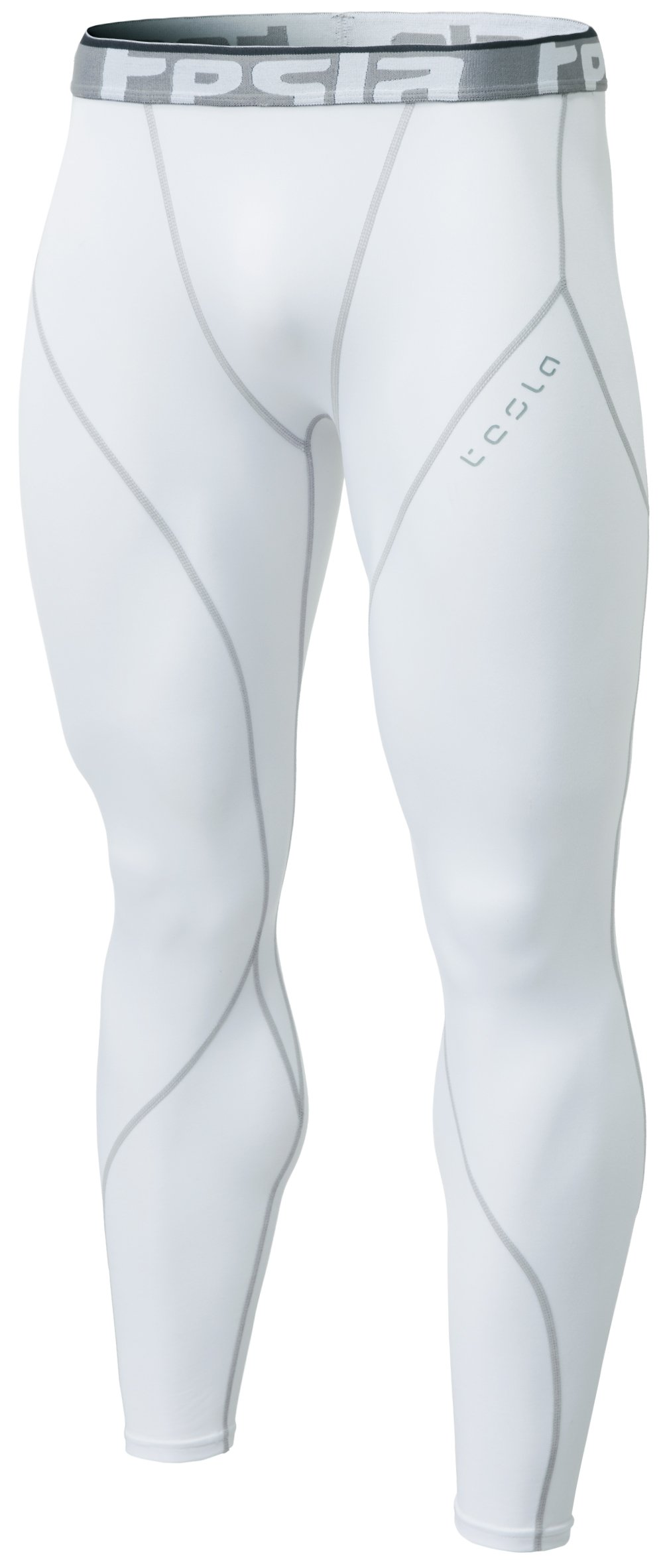 Tesla CLSL TM-YUP33-WHT_Large Men's Thermal Wintergear Compression Baselayer Pants Leggings Tights YUP33