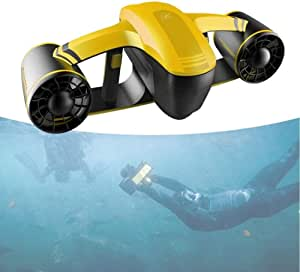 JINDAO Underwater/Diving Thruster/Water Robot, Twin-Propeller Balanced Design, 2 Speeds, 30 Minutes, Long Life, Swimming Pool, Diving and Snorkeling and Marine Adventure