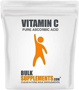 BulkSupplements.com Vitamin C Powder - Pure Ascorbic Acid (500 Grams - 1.1 lbs - 667 Servings) Non-GMO - Gluten Free