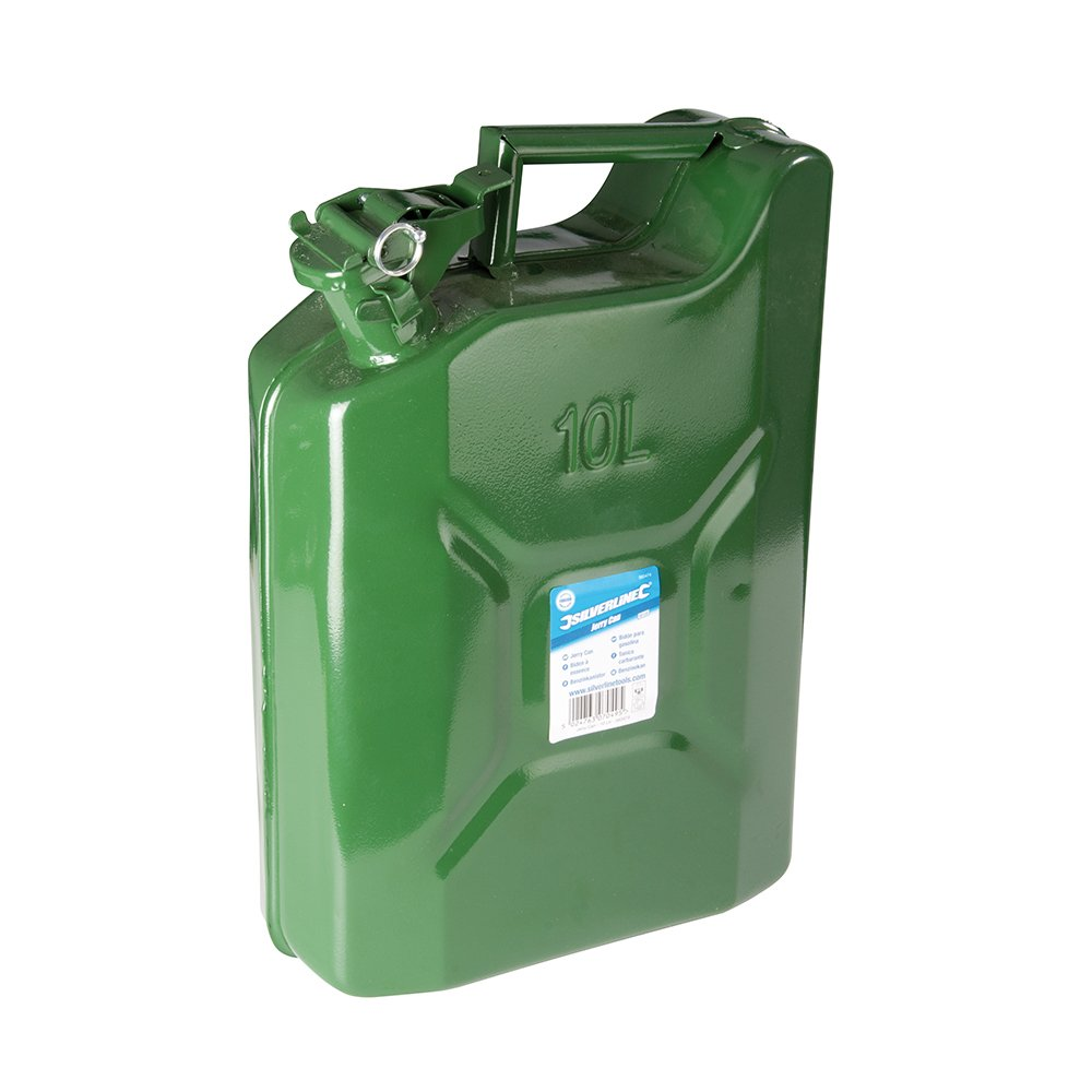 Tooltime - Silverline 10 LTR & 5 Litre Metal Jerry Can Set Tooltime® - Silverline