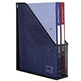 MyGift Metal Mesh Magazine Holder, Desktop File Storage Organizer Rack, Black