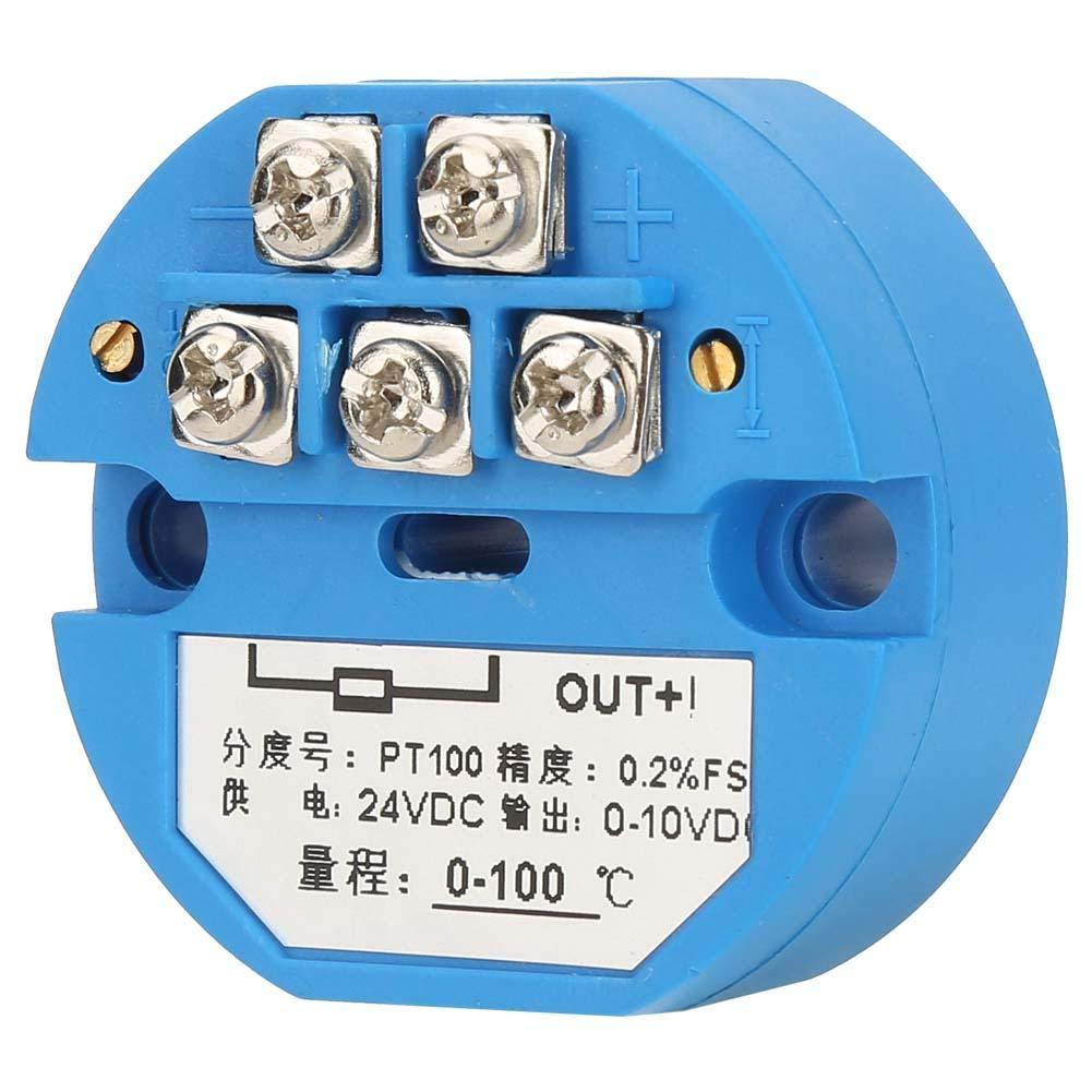 Temperature Transmitter 50~400 Degree 4-20MA Temperature Transmitter with 1M Sensor PT100 Temperature Sensor DC24V Output