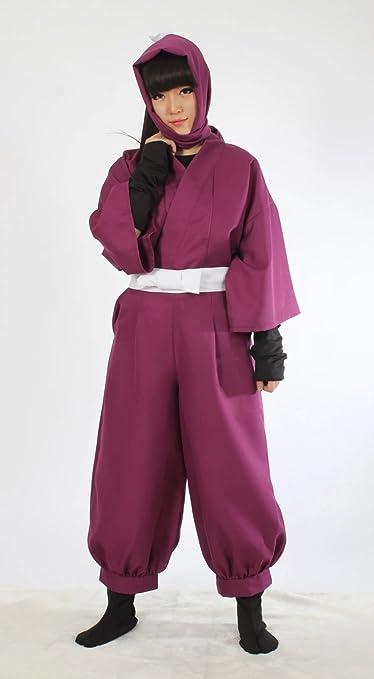Deep Purple) Ninja Cosplay Costume Set 4th grade Nintama ...