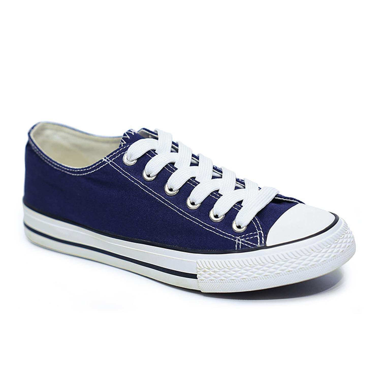 Amazon.com | Carolyn Jones Women Fashion Vulcanize Shoes Summer Casual White Couple Sneakers Zapatillas Mujer Blue 37 | Shoes