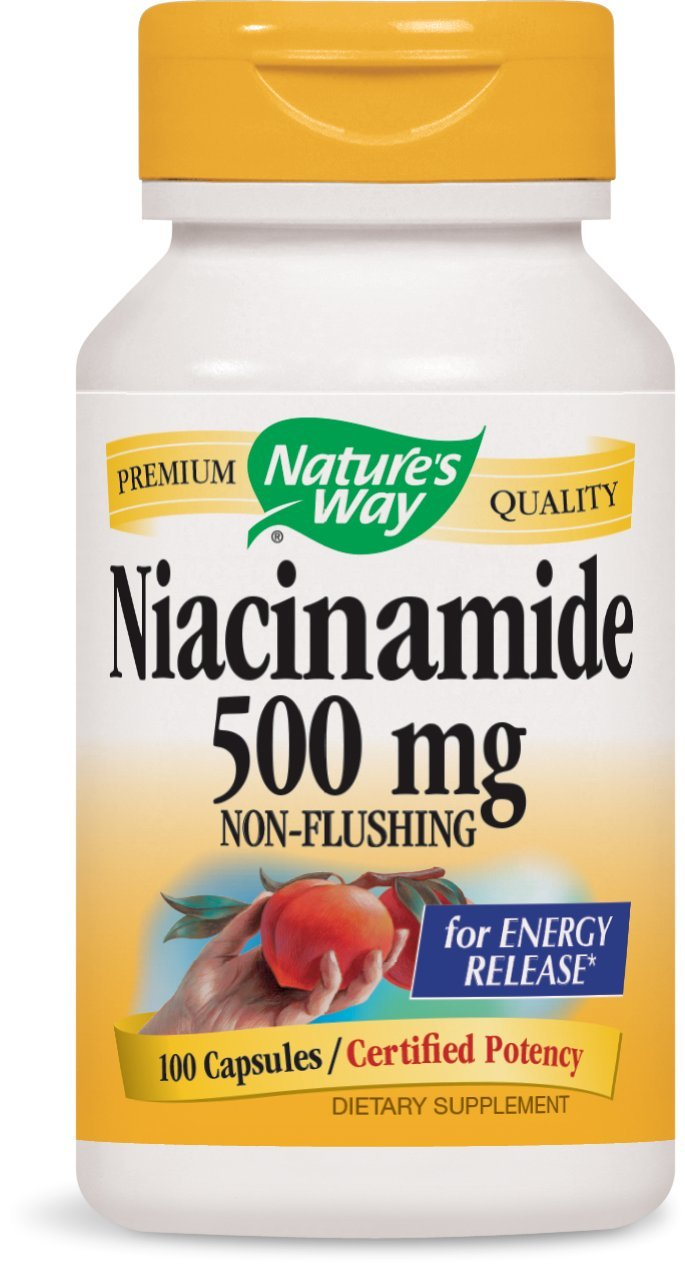 Nature's Way Niacinamide, 100 Capsules (Pack of 3)