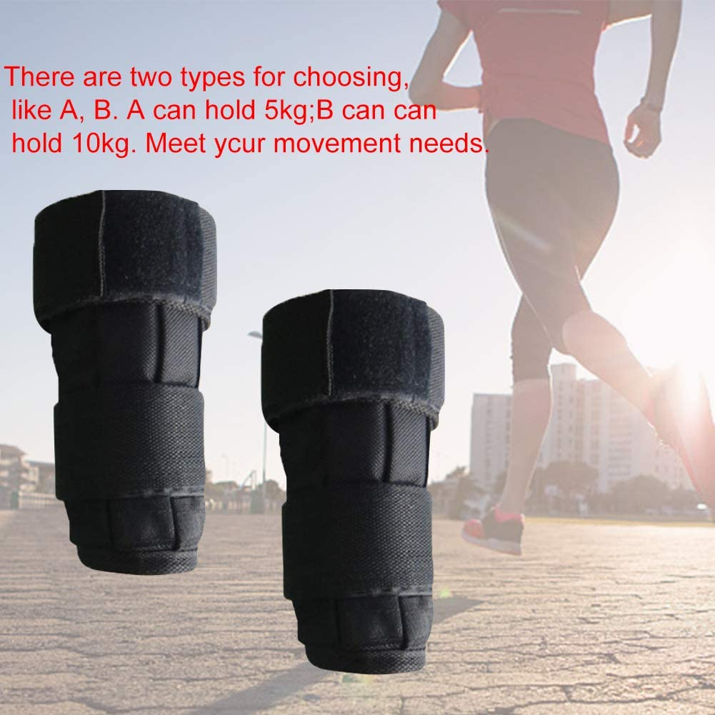 Exercise Gymnastics Jogging BHAIR5 Wrist Weights Sandbag Adjustable 5-10 kg Weight Sports Hand Wrist Weights Sandbag Training Equipment for Fitness Walking Training