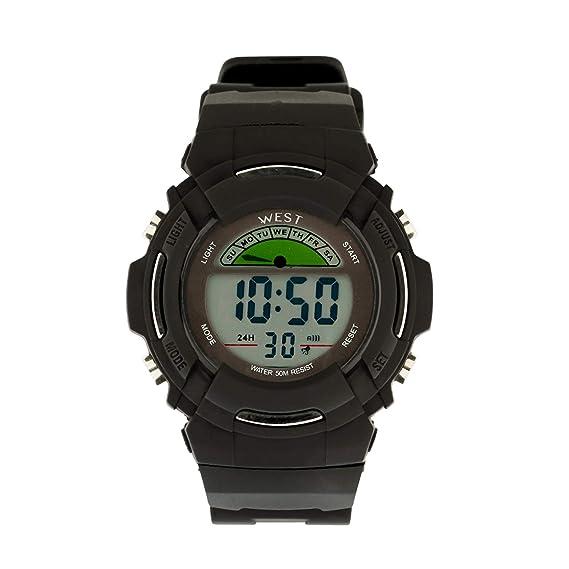 West Watch – Original – Digital Reloj Deportivo de niños – Modelo Wood – 3 colores