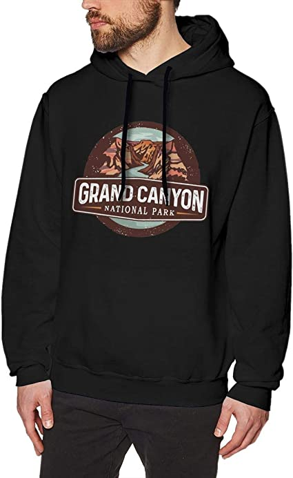 Imagen deDFGDG Men's Hooded Sweatshirt Grand Canyon National Park Fashion Hoodie Pullover Black Navy
