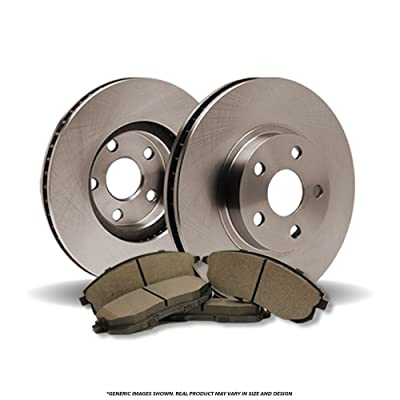 (Front Brake Kit)(OE SPEC)(Perfect-Series) 2 Disc Brake Rotors & 4 SemiMet Pads (Fits: Tracker Vitara)(5lug): Automotive