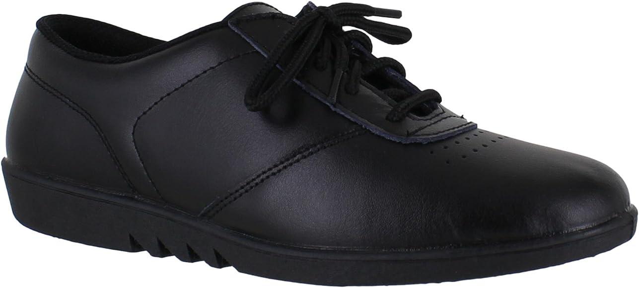 Comfort Treble White Black Leather Lace Up Casual Washable Shoes Sizes 3-9 UK