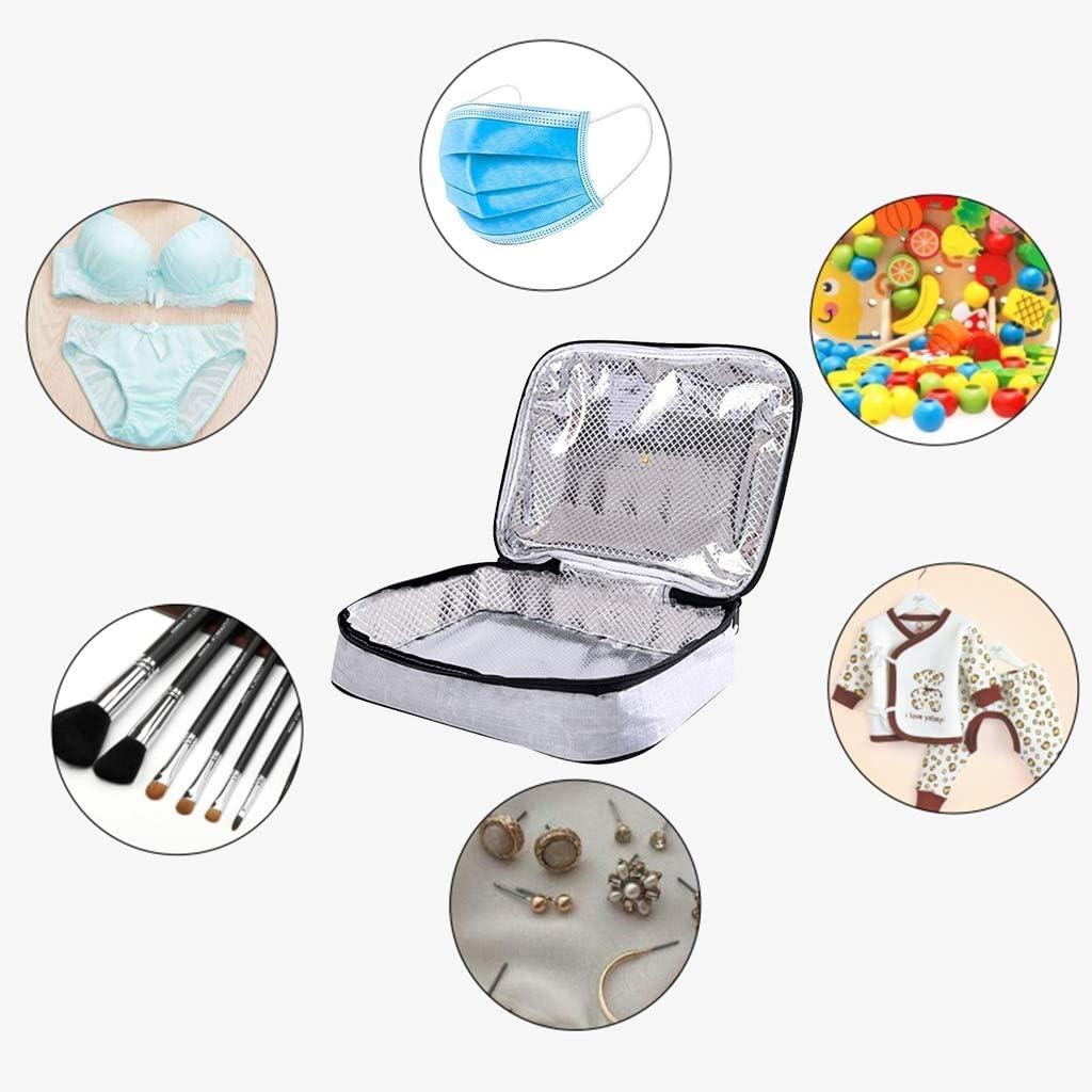 Biberones Bolsas de desinfecci/ón UV Multifuncional bolsa esterilizador UV port/átil para joyas M/áscaras y ropa interior