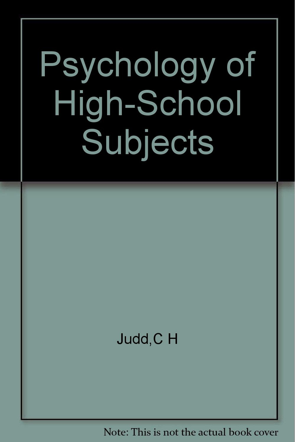 Download Psychology of High School Subjects pdf