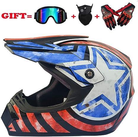 Motos Motocross Cascos y Guantes/Gafas/Máscara para Adulto ATV ...