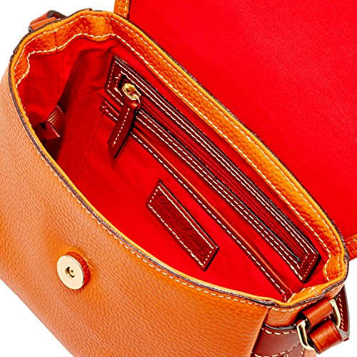 Bag Orange Bourke Shoulder amp; Pebble Flap Crossbody Dooney xWgwpqaYw