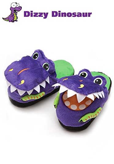 00219e584f8 Halloween Dress Up Costumes Silly Slippeez Super Comfy Kids Boys Dinosaur  Shoes Slippers Size XLarge -