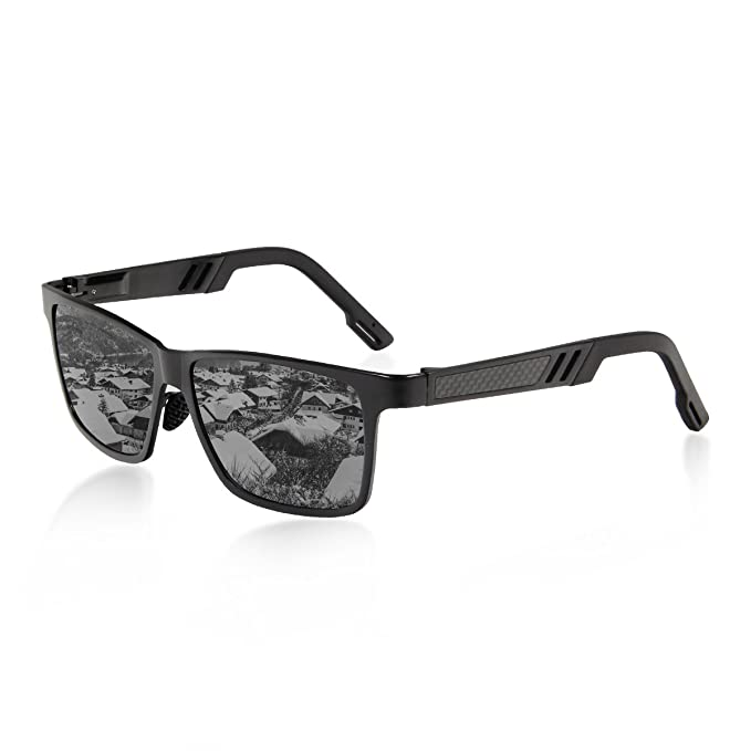 Queshark Al-Mg Marco de Metal Gafas de sol Polarizadas de ...