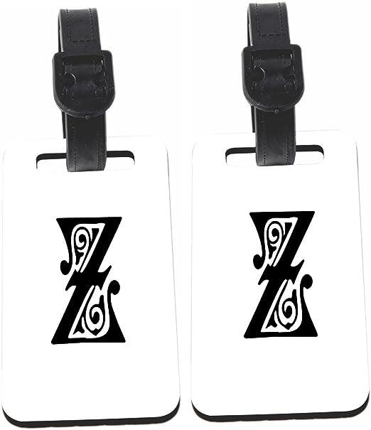 Rikki Knight Calligraphy Monogram Letter Z Design Luggage Identifier Tag 1 Sided