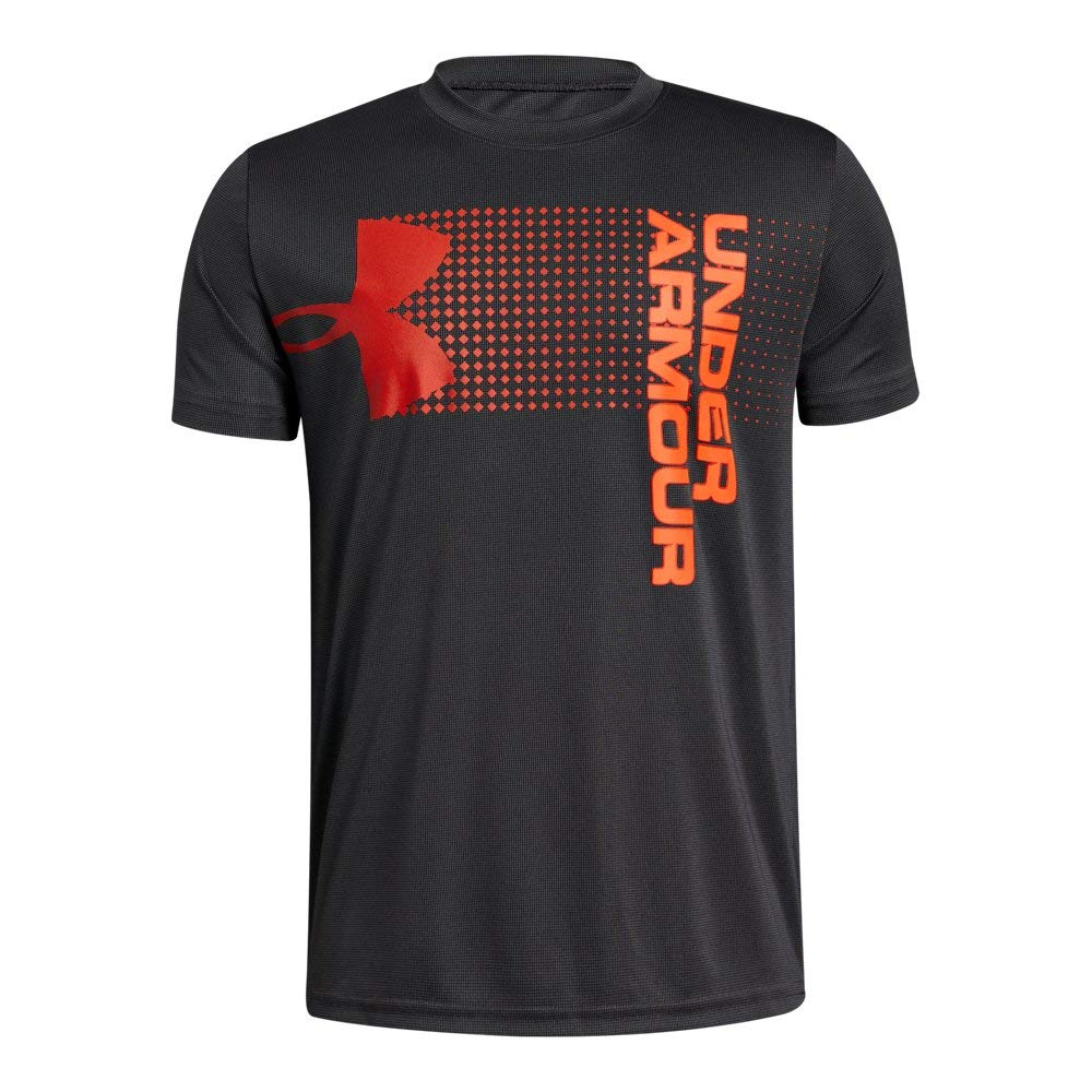 Under Armour Boys' Crossfade T-Shirt, Charcoal (019)/Radio Red, Youth X-Small by Under Armour