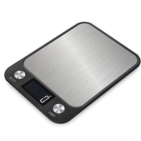 WLIXZ Báscula Digital para Alimentos, Pantalla LCD Grande y Plataforma de pesaje Grande de Acero
