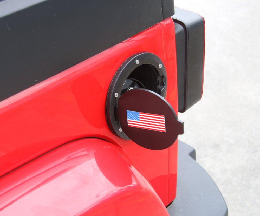 YiXunTen USA Flag Gas Tank Cap Cover Fuel Tank Cover Rubber Gasket Ring 4-Door 2-Door 2007-2016 Jeep Wrangler JK /& Unlimited