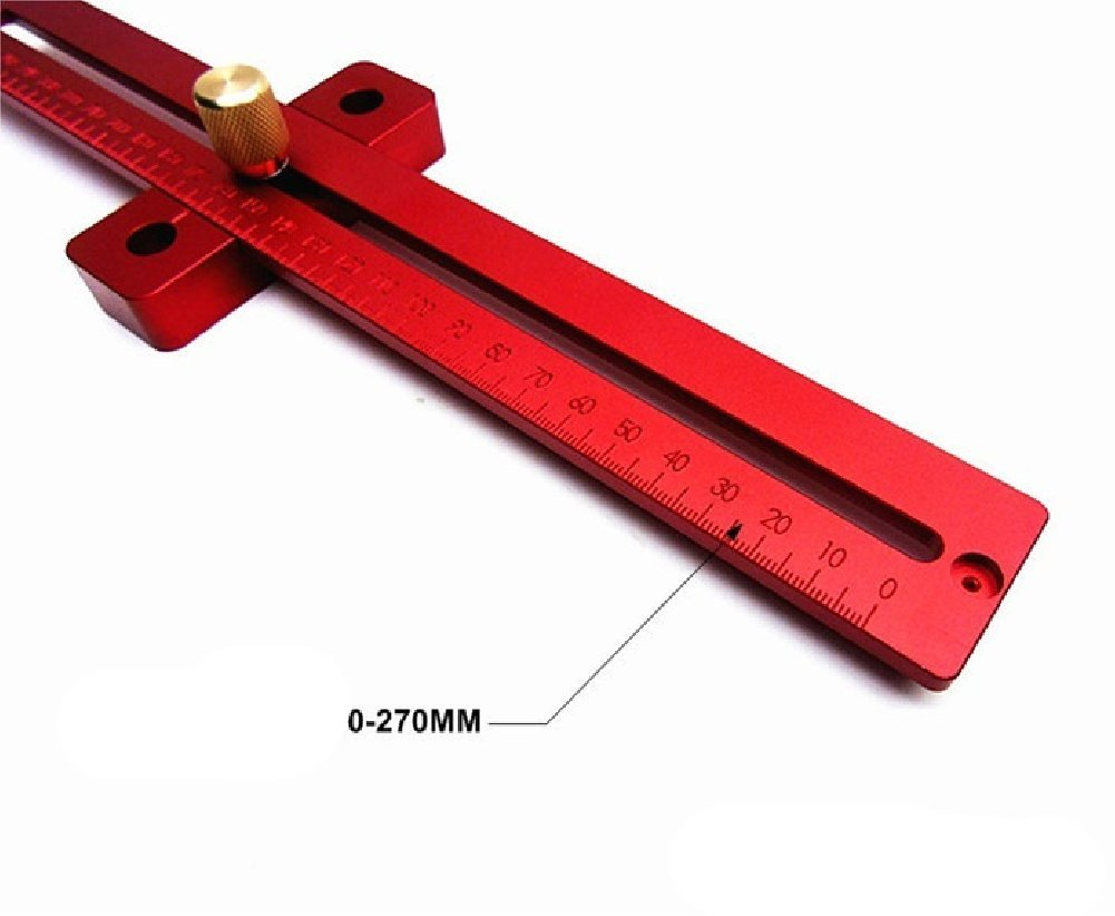 Aluminum Alloy Crossed Ruler Woodworking T Type Scriber Measuring Tools by YUCHENGTECH (Image #1)