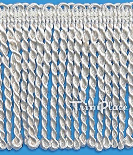 TRIMPLACE WHITE 3 INCH INCH BULLION FRINGE 11 Yards