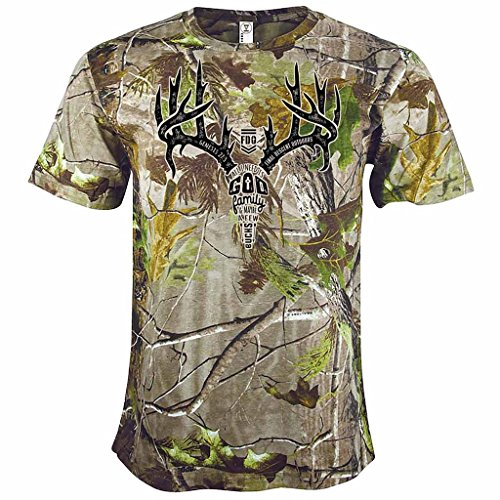 Final Descent Antler Text Realtree Men's T-Shirt - Large