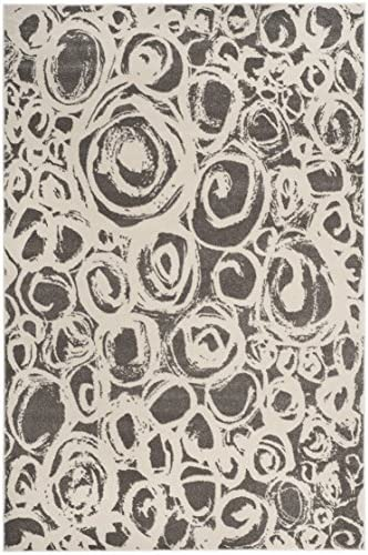 Safavieh Porcello Collection PRL4822D Dark Grey and Ivory Area Rug 8 x 11 2