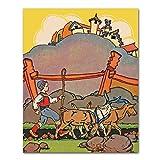 Best Cloud Nine Prints Toddler Girl Books - Scandinavian Nursery Wall Art, Goat Print Review