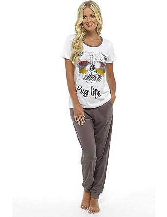 0036789e8 Womens Pyjamas Pjs for Women Sets Ladies Cotton Pyjamas Womens Pajama  Nightwear Sleepwear Loungewear 8-22 Pug Minnie Mouse Penguin Cats Lounge  Wear  ...
