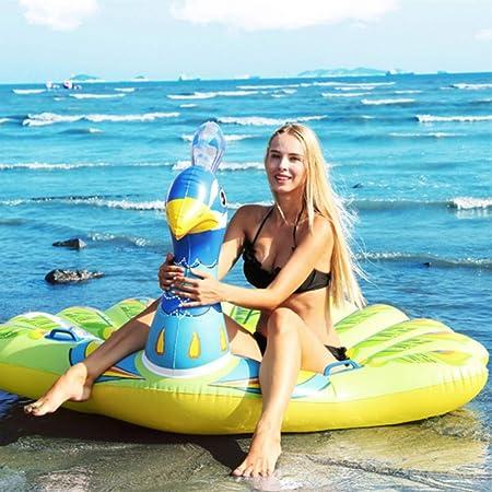 YYBFG Flotador Inflable Gigante de la Piscina del Pavo Real,Isla ...