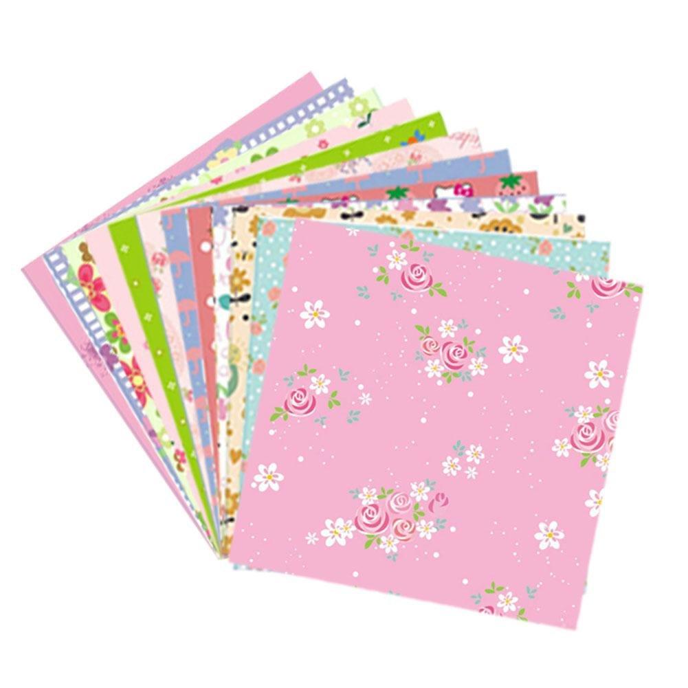 72 fogli di carta origami Set carta piegata a mano fai da te modello di elefante rosa origami colorato - 12 modelli diversi lato singolo, 5,91 x 5,91 pollici fogli quadrati di Beatie