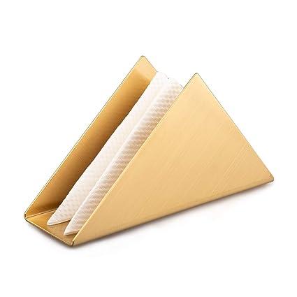 IMEEA - Servilletero Moderno Triangular de Acero Inoxidable ...