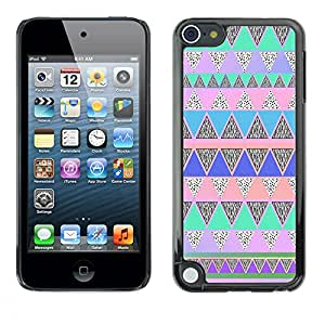 - Hipstr Nebula Aztec Tribal Pattern - - Hard Plastic Protective Aluminum Back Case Skin Cover FOR Apple iPod Touch 5TH GEN Queen Pattern