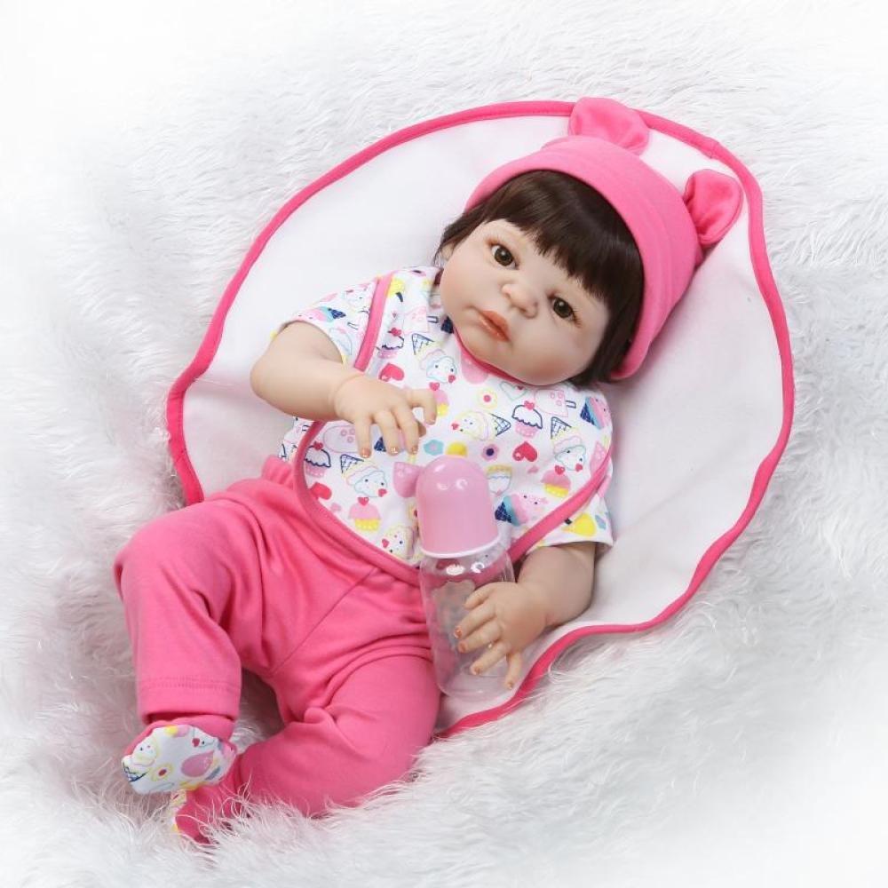QXMEI Simulations Wiedergeburt Puppen Silikon Nettes Mädchen In Das Wasser Zum des Spielzeug Kind Kreativen Geschenks 57CM Zu Begleiten