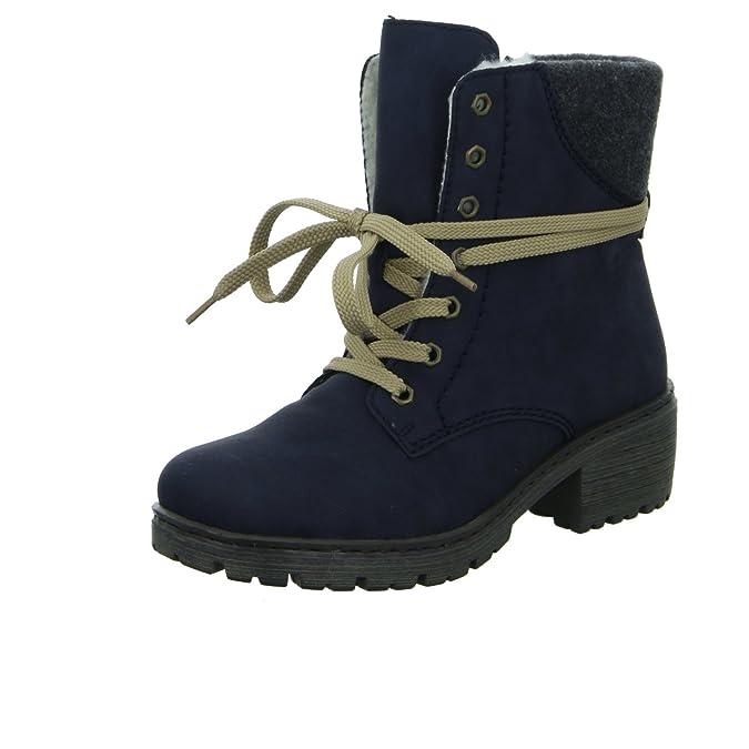 a34a2f6080bd Rieker Y4532-14 Damen Schnürstiefelette Warmfutter  Amazon.de  Schuhe    Handtaschen