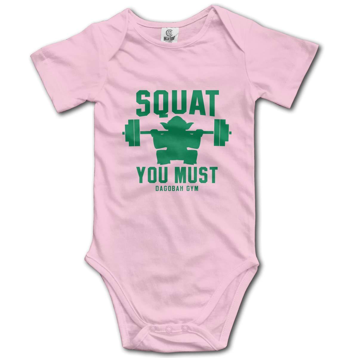 e58170d4a Amazon.com  LWI DIW Squat You Must Fashion Newborn Baby Boys Girls Funny  Short-Sleeve Bodysuit Romper Outfits  Clothing