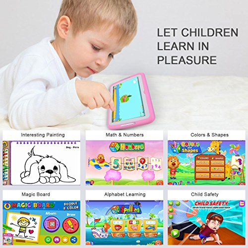 Kids Tablet Android 7.1, 7 Inch, HD Display, Quad Core, Children Tablet, 1GB RAM + 8GB ROM, with WIFI, Dual Camera, Bluetooth, Educational, Multi Touch Screen Kid Mode,With Kickstand … by BENEVE (Image #3)