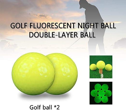 rcraftn Pelota Luminosa de Golf Pelota de Golf Bola Fluorescente ...