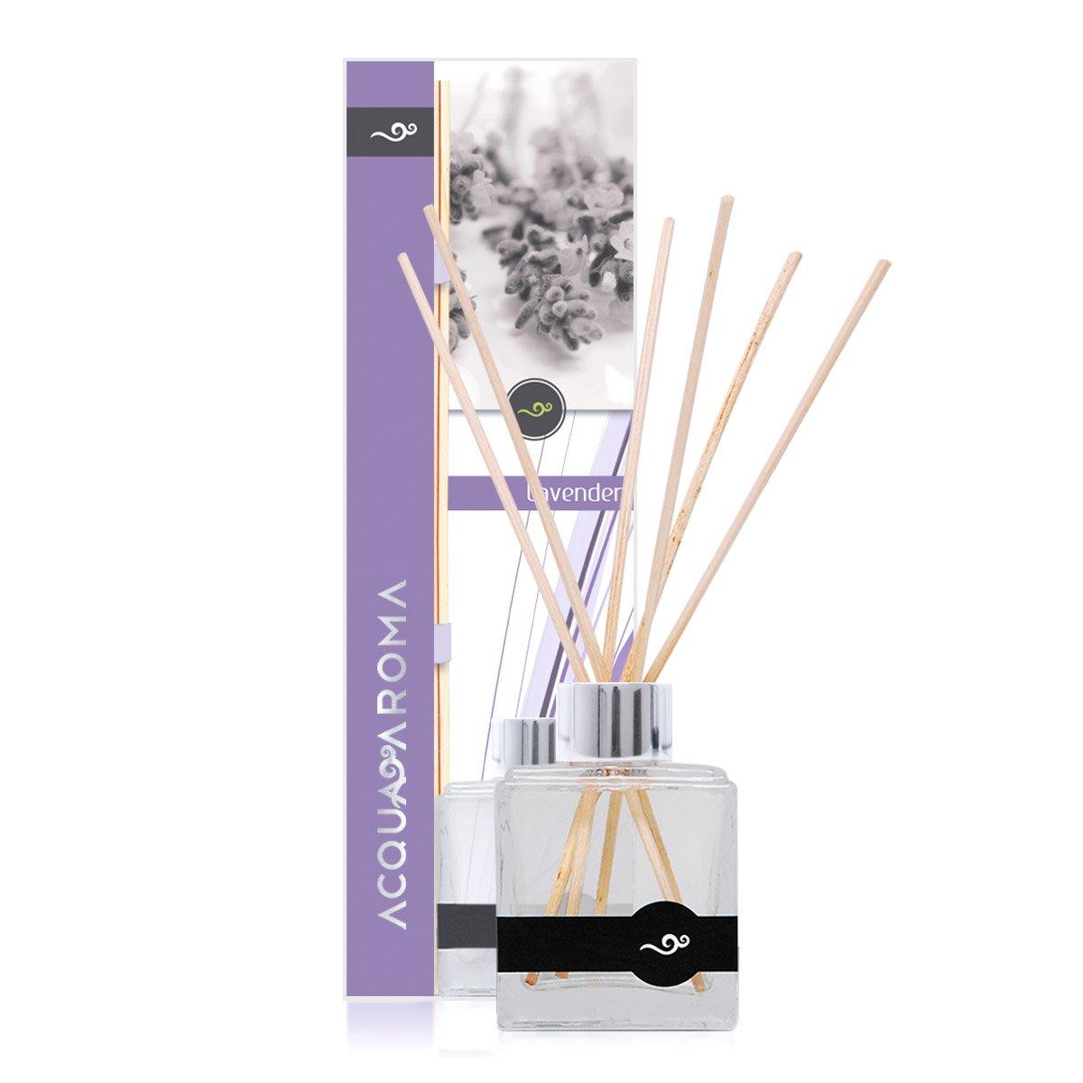 Acqua Aroma Lavender Reed Diffuser 3.4 FL OZ (100ml) by Acqua Aroma