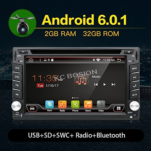 Upgrade Version Quad Core WIFI Model Android 6.0 T3 Model Universal In Dash Double din 6.2''capacitive Touch Screen Car DVD Player GPS Navigation Stereo with Camera