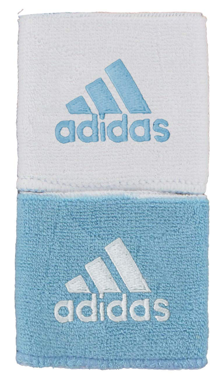 adidas Unisex Interval Reversible Wristband, Argentina Blue/White White/Argentina Blue, ONE SIZE by adidas
