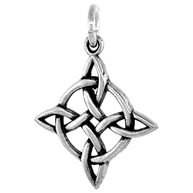 Amazon sterling silver celtic knot charm 34 inch celtic sterling silver celtic knot charm 34 inch aloadofball Images