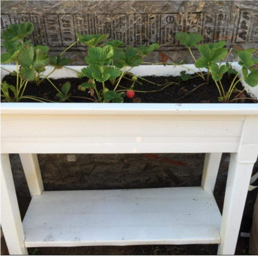 Raised Planter Box with Legs,Elevated Garden Planter,White 36 inch Tall Patio Planter,Free Standing Flower,Vegetables and Herb Planter for Outdoor