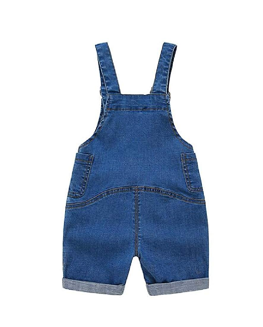 Pandapang Boys Hipster Jean Denim Overalls Loose Girls Shorts