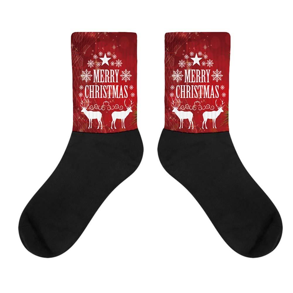 Socks Navidad 3D Novedad Impresa Calcetines Mujer Hombres Calcetines ...